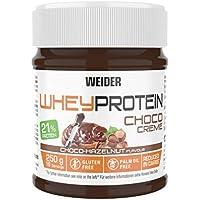 Weider Whey Protein Spread 250 g. Crema de avellana con 22% de proteínas Baja en azúcares Sin aceite de palma y sin gluten.