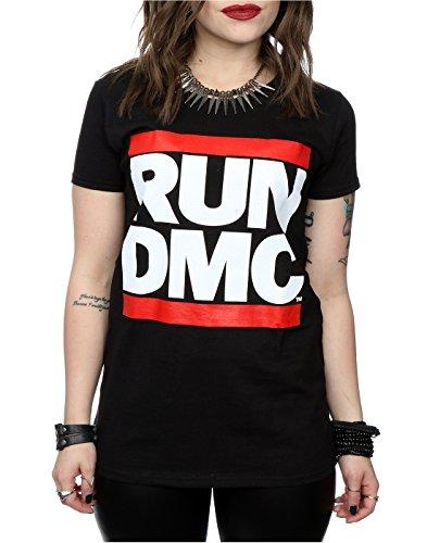 Run DMC Femme Classic Logo T-Shirt Noir