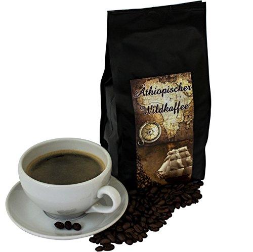 Wildkaffee Kaffeebohnen aus Äthiopien 1000 g Kaffee ganze Bohne