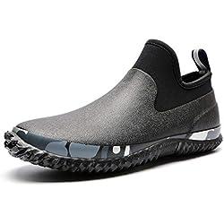 TENGTA Unisex Zapatos de jardinería Impermeables para Mujeres Botas de Lluvia para Hombres Calzado de Lavado de Autos Negro 43