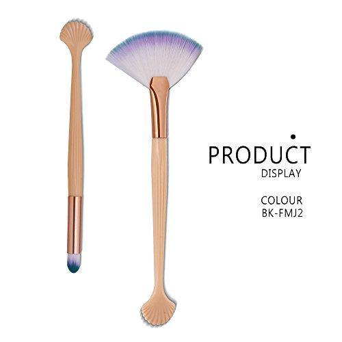 DaySing Brosse SynthéTique Fusion De Fond De Teint Concealer Eye Visage Liquide Poudre CrèMe2Pcs Kit De Maquillage Pinceau De Maquillage CosméTique Blush Blusher Concealer Cosmetics Brush