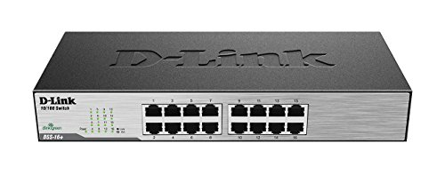 D-Link 16-Port 10/100 Unmanaged Desktop or Rackmount Switch (DSS-16+)  available at amazon for Rs.5651