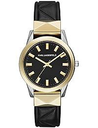 Karl Lagerfeld KL3802 - Reloj con correa de cuero, para mujer, color negro