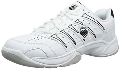 K-Swiss Mens GRANCOURT II CARPET Tennis Shoes White Weiß (White/Black) Size: 40