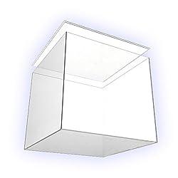 HOKU Holzhäuser Kunststofftechnik Acrylglas-Anfertigung in Würfelform .Gefäß aus Acryl-Glas ca. 25 x 25 x 25 cm Plexiglas- Kubus Präsentationsbox mit Absatz im Deckel .Abdeckung mit Absatz im Boden