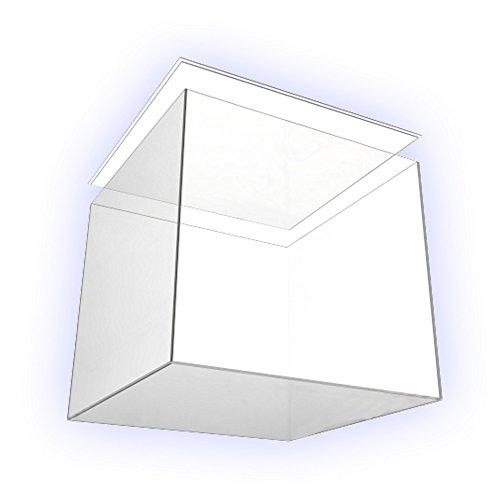 HOKU Holzhäuser Kunststofftechnik  Acrylglas-Anfertigung in Würfelform .Gefäß aus Acryl-Glas ca. 25 x 25 x 25 cm Plexiglas- Kubus Präsentationsbox mit Absatz im Deckel .Abdeckung mit Absatz im Boden - Podest Vitrine