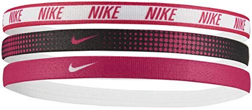 Nike Printed Hairbands 3 Stück Schwarz/Weiß/Pink