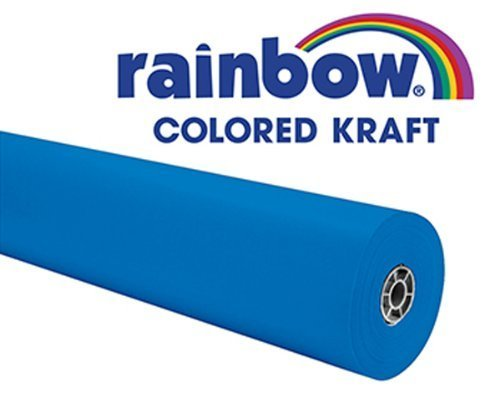 pacon-corporation-pac66171-rainbow-kraft-roll-100ft-brite-blue-by-pacon