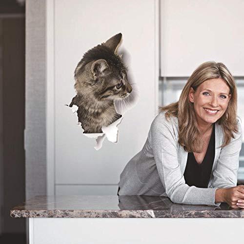 Wandtattoos & Wandbilder Katze Dekorative Wandaufkleber Tür Kühlschrank Schrank Toilette Aufkleber Kleiderschrank Dekorative Wandaufkleber Wandbilder -