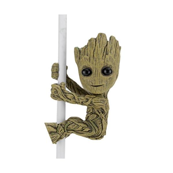 NECA New Groot Figura de 5 cm, Scalers Marvel Guardianes De La Galaxia 2, Multicolor (NEC0NC14804) 1