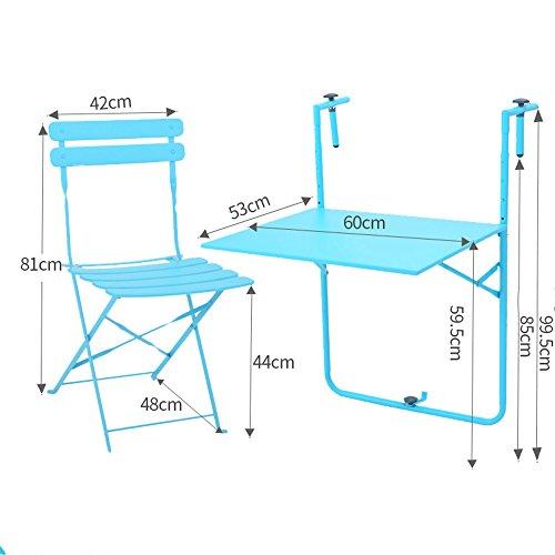 HAIZHEN Table Pliable Tables et chaises de Balcon Table de terrasse Pliante Rampes de Table Murale Pliante pour Balcon en Plein air Table de Suspension Stations de Travail informatiques