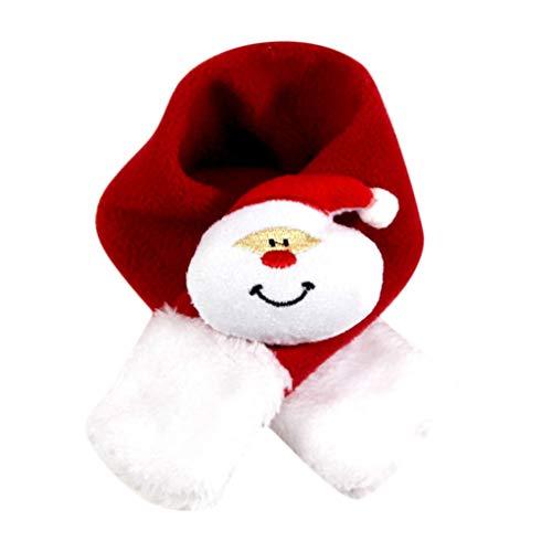 (Amphia - Haustier-Weihnachtsschal,Weihnachten Schal Winter Hundehalsband Schal Halstuch warm für kleine große Hund Pet p(52x5cm,E))