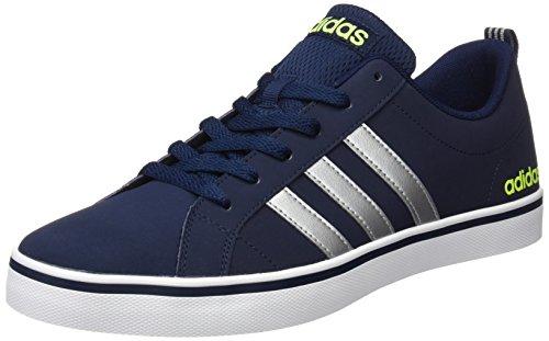 adidas Pace Vs, Scarpe da Ginnastica Basse Uomo, Blu (Collegiate Navy/Matte Silver/Solar Yellow), 40 2/3 EU