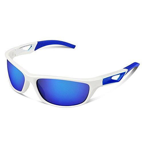 Yiph-Sunglass Sonnenbrillen Mode Polarisierte Sport-Sonnenbrille für Männer Frauen Tr90 Radfahren Baseball Laufen Angeln Golf (Farbe : Weiß)