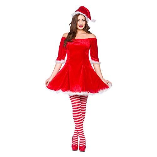 LADIES SWEET SANTA CHRISTMAS FANCY DRESS OUTFIT