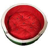 MMJ Wassermelonen-Bett-ruhiges Haustier-Bett-warmes Winter-Haustier-Bett-Welpen-Kätzchen-warmes Melonen-Bett bequem und warm (größe : M)