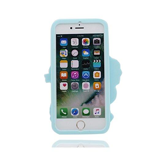 iPhone 6S Copertura,iPhone 6 Custodia,Tre ragazzi del fumetto 3D bella copertura molle della cassa del silicone di TPU della pelle protettiva della pelle Case cover per iPhone 6S / 6 4.7 inch # 1