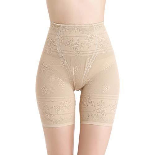 Leggings Unterkleid Shorts Yoga Strumpfhose Boy Shorts Body Shaping Pants Corsage Shapeware Ultra Thin Soft Safety Pants Slimming Control Pantties Unterwäsche Gr. 52, beige ()