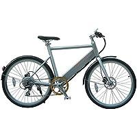 Ethon Herren Urban King E-Bike Fahrrad, Nativ Aluminium Feingebürstet, 52