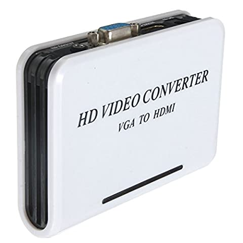 Tutoy 1080P VGA HDMI HD HDTV Video Convertitor Adattator Adapter Für PC Laptop Dvd