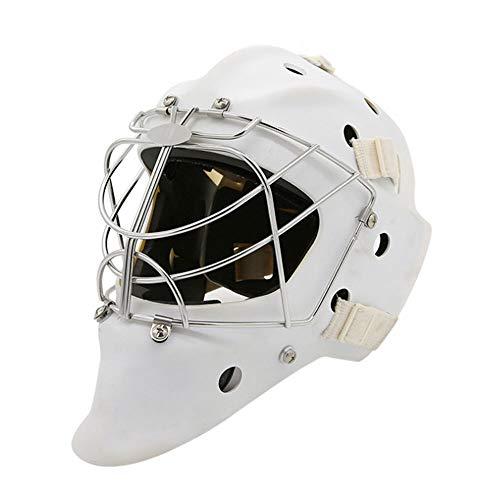 CX TECH Hockey Helm Stahl Combo Eishockey Maske Helm Käfig Starke Schlagfestigkeit Gesichtsmaske Schutzausrüstung,L (Hockey Spieler Halloween Kostüm)