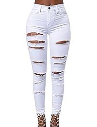 Damen Jeanshose Damen Zerrissen Hose Taille Stretch Skinny Bleistift Hose  Leggings 2fd26a2af3
