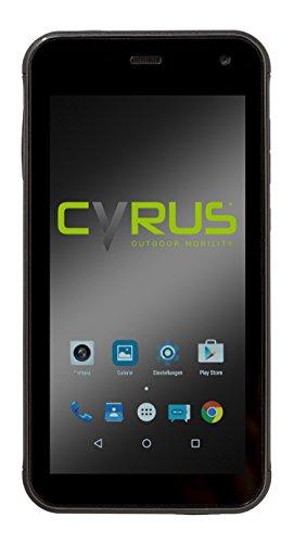 Cyrus CYR10112 Outdoor Smartphone CS22 (11,94 cm (4,7 Zoll) Touch-Display, Android 7.0, Dual SIM, LTE, stoßsicher, staubgeschützt, wasserfest, 2GB RAM, 16GB ROM, 8MP Kamera) schwarz
