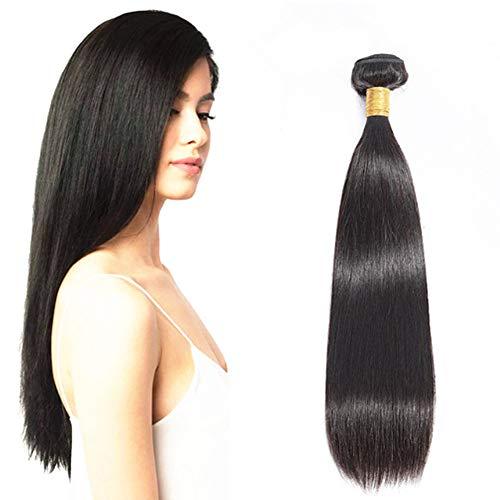 Ugeat 14 Pouces/35cm Tissage Bresilien Cheveux Humains Noirs Naturels 1b# 100g/paque Vierge Extensions Tissage Naturel