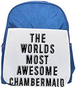THE WORLDS MOST AWESOME Chambermaid printed kid's Bleu  backpack, Cute backpacks, cute small backpacks, cute Noir  backpack, cool Noir  backpack, fashion backpacks, large fashion backpacks, Noir  fashi   Authentique