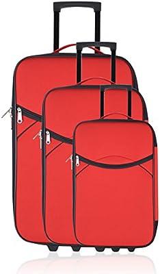 GEORGES RECH Juego de maletas, rojo (Rojo) - BD-1242