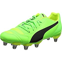 Puma Men's Evopower 4.2 Rugby H8 Boots (Green Gecko Black-Safety Yellow 08), 7 UK