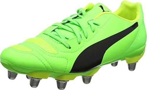 687734637b2e Puma Men s Evopower 4.2 Rugby H8 Boots (Green Gecko Black-Safety Yellow 08)