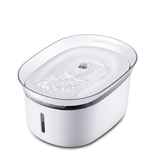 HoneyGuaridan W18 Fuente de Agua Automática para Mascotas, Bebederos mascotas. Dispensador de Agua para Perros y Gatos, 2L