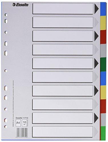 Esselte 795707 Register Polypropylen A4, 10 Positionen
