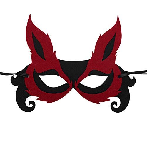 Märchen Tanz Kostüm - IBLUELOVER Maskerade Maske Kostüm Party Halloween Weihnachten Venezianische Masken Füchse Hirsche Frösche Augenmaske Karneval Fasching Tanz Schleier Märchen Cosplay für Kinder Erwachsene Festival