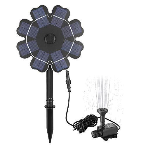 Richarm pompa per fontana energia solare, 2.5w fontana solare per uccelli flusso d'acqua regolabile fontana per uccelli all'aperto,stagno,piscina,acquario,decorazione del giardino