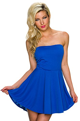 Fashion - Robe - Uni - Sans Manche - Femme Bleu - Bleu