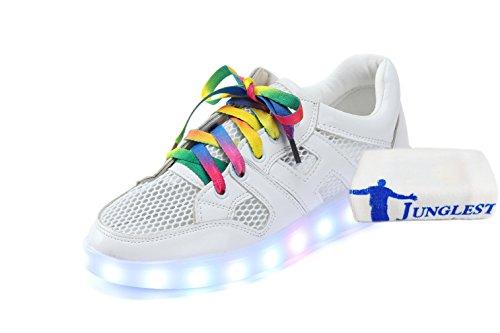 (Present:kleines Handtuch)JUNGLEST® 7 Farbe USB Aufladen LED Leuchtend Sport Schuhe Sportschuhe High Top Sneaker Turnschuhe für Unisex-Erwa c3