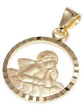 *333 Gelbgold Damen Kinder Anhänger Engel diamantiert Geschenk Schutzengel*