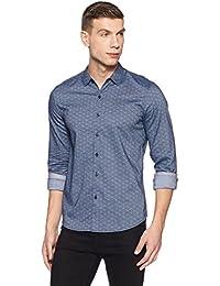 Lee Men's Printed Slim Fit Casual Shirt