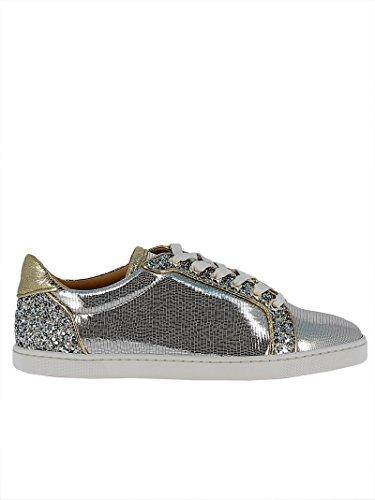 Christian Louboutin Damen 1180104Cn1h Silber Leder Sneakers