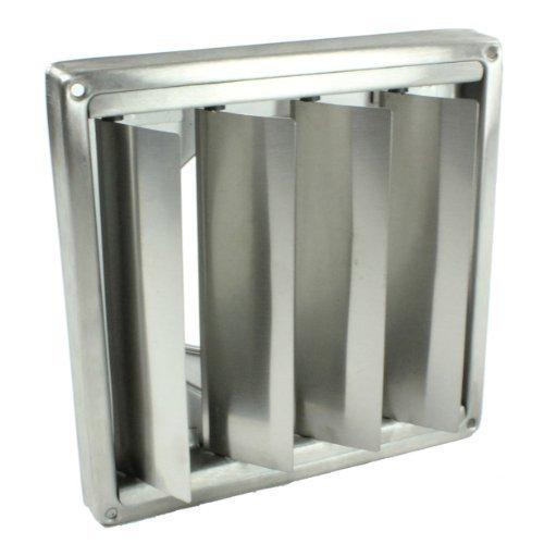 First4spares - Grille de Ventilation Acier Inoxydable avec Volets de Gravité (125mm)