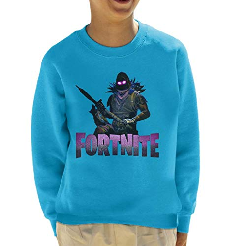 Cloud City 7 Fortnite Raven Skin with Weapon Kid's Sweatshirt