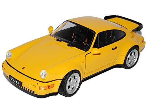 Porsche Turbo Modell 911 (Porsche 911 964 Turbo Coupe Gelb 1988-1994 1/24 Welly Modell Auto)