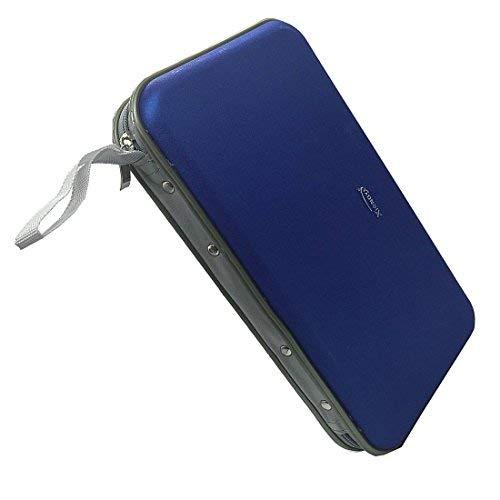 80Kapazität Dics CD/VCD/DVD Case Heavy Duty CD Wallet Organizer Wallet Halter Album Box (Blau) Media Wallet Case