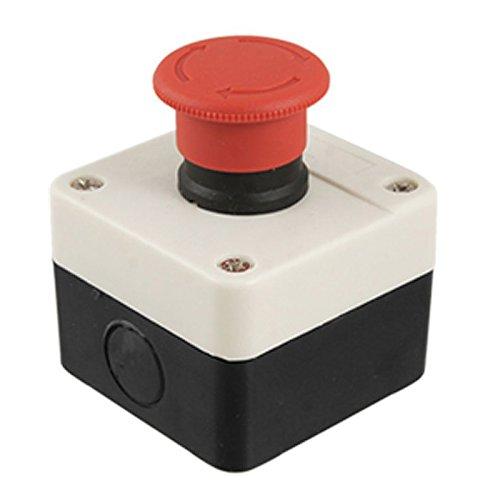 Interruptor de pulsador de parada de emergencia de seta de senal roja Estacion 1 NC normalmente cerradoNombre del producto: Interruptor de pulsador de setaTipo de accion : tipo de auto-bloqueoTipo de contacto: normalmente cerrado (NC)Corriente nomina...