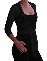 6be162b04d8b97 Suchergebnis auf Amazon.de für: bolero zum binden schwarz: Bekleidung