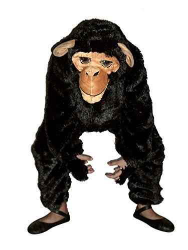 Seruna Affen-Kostüm, F84/00 Gr. 104-110, für Kinder, Affen-Kostüme AFFE für Fasching Karneval, Klein-Kind Karnevalskostüme, Kinder-Faschingskostüme, Geburtstags-Geschenk Weihnachts-Geschenk (Baby Mädchen Affe Kostüm)