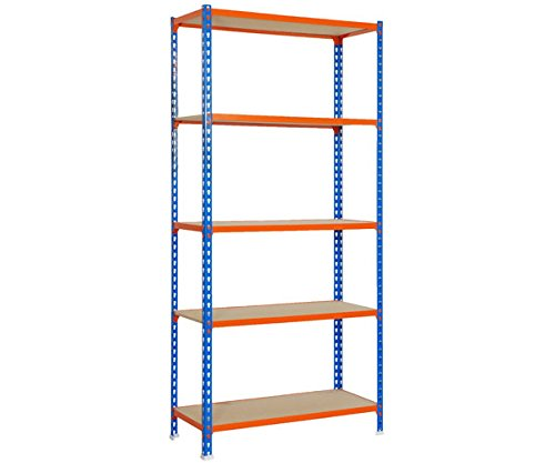 SimonRack 458100025189045 - Kit MaderClick de 5/400 mm, color azul/naranja/madera