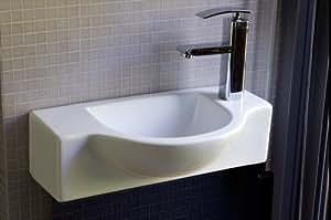 Kleine Waschbecken Für Gäste Wc : waschbecken f r g ste wc kleine badezimmer toiletten wei es eckiges ovales g stewaschbecken als ~ Watch28wear.com Haus und Dekorationen